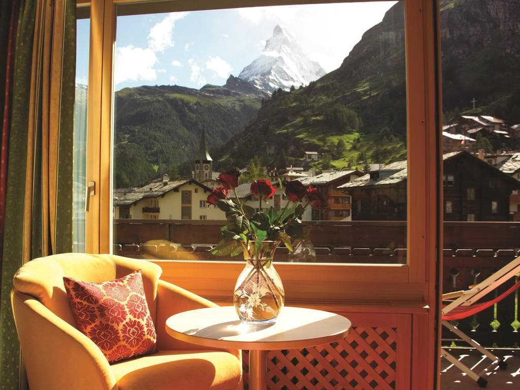 aussicht Hotel Metropol and Spa Zermatt